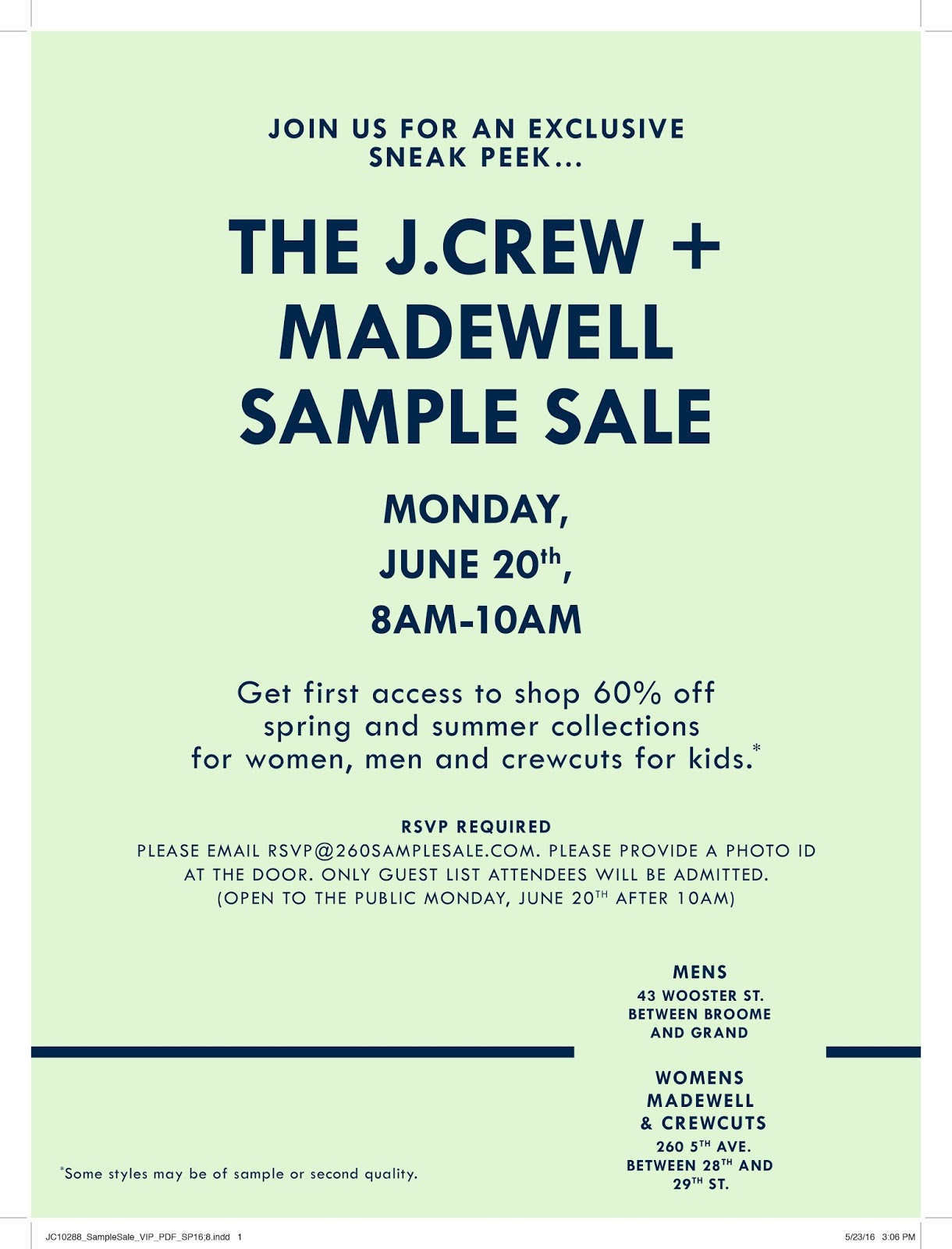 fashionably petite: J.Crew + Madewell Sample Sale - 6/20 - 6/26/16