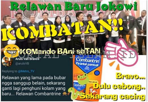 Baru Dideklarasikan, Relawan Baru Jokowi Sudah Diplonco Warganet