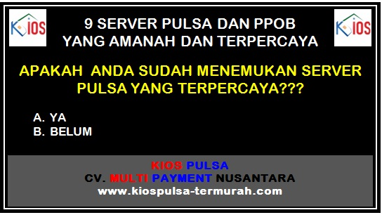Server Pulsa dan PPOB Terpercaya