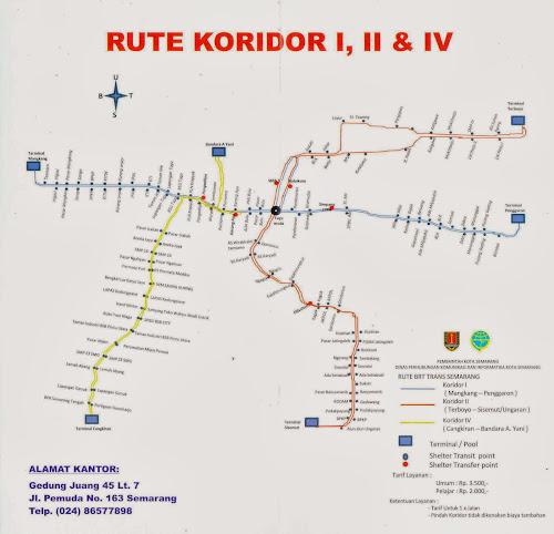 Gambar Peta Rute Bus BRT Trans Semarang
