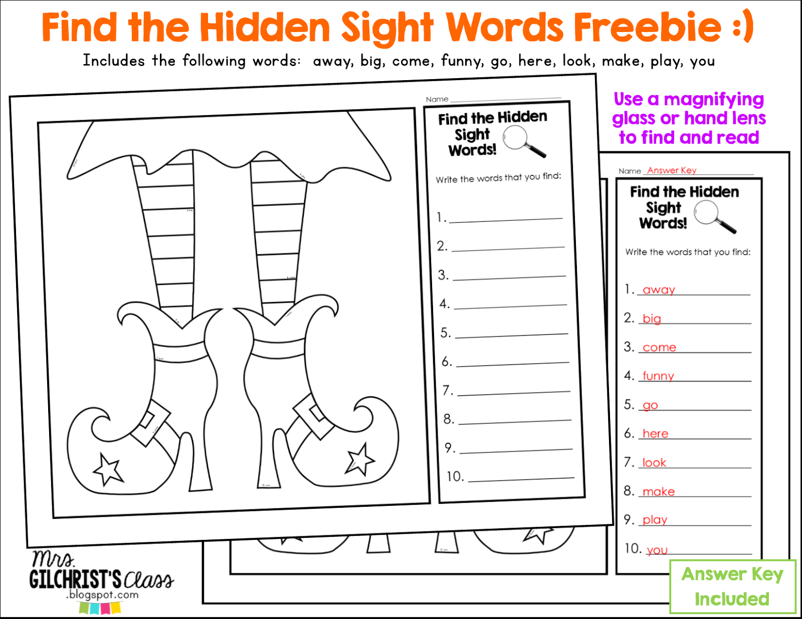 Halloween Halloween Sight Words Freebie And Games For