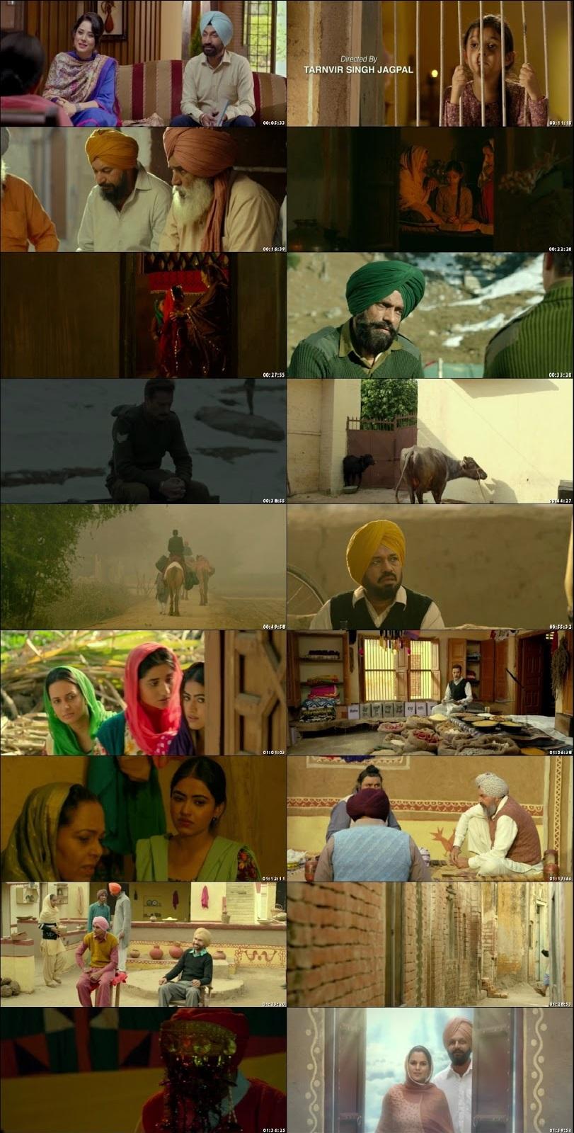 Screen Shot Of Daana Paani 2018 300MB HDRip 480P Full Punjabi Movie Watch Online Free Download
