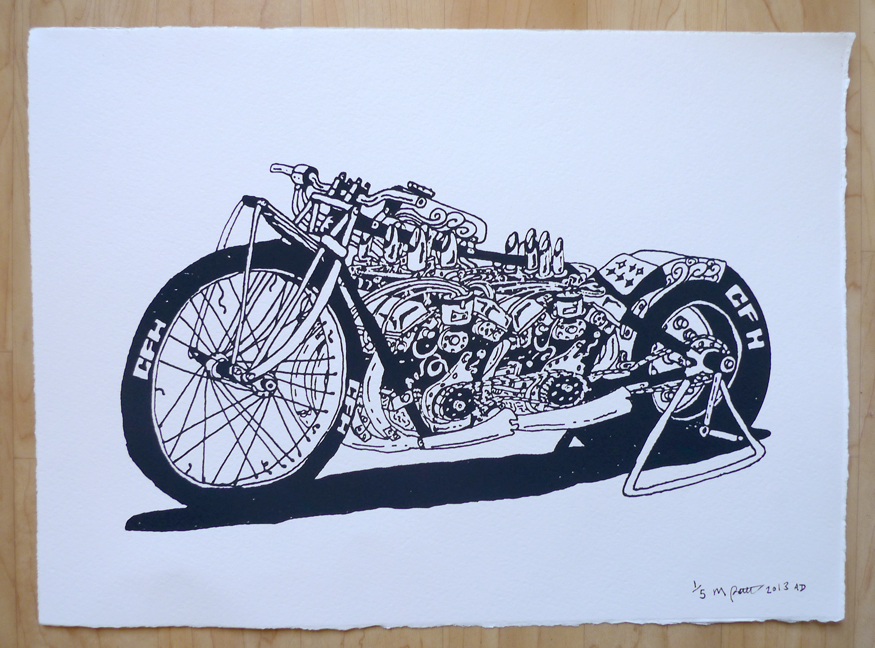 CFH Dragbike Illustration by Maxwell Paternoster