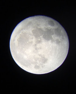 Super Moon taken from a Telescope for a beginner, Celestron 21038 Travel Scope 50 Telescope