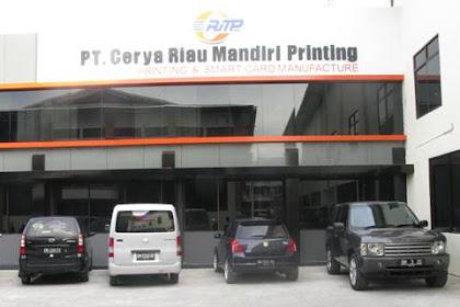 Lowongan Kerja Pekanbaru : PT. Cerya Riau Mandiri Printing Juli 2017