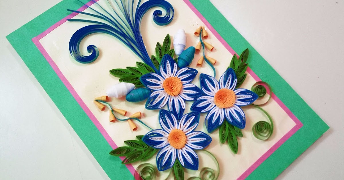 quilling greeting card for birthday  paper quilling art