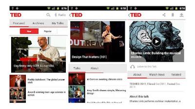 Aplicación gratuita TED
