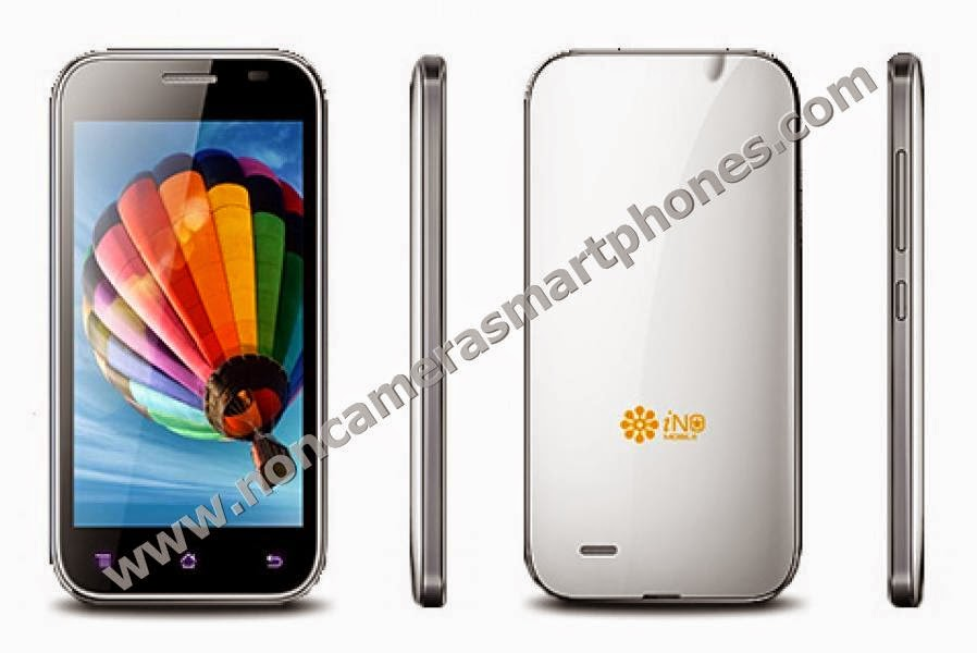 iNO 2 Dual Sim Android Non Camera Smartphone Front Back Side White Color Images Photos Review