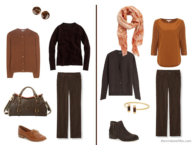 Capsule wardrobe colour palette inspiration - a dash of cinnamon with brown