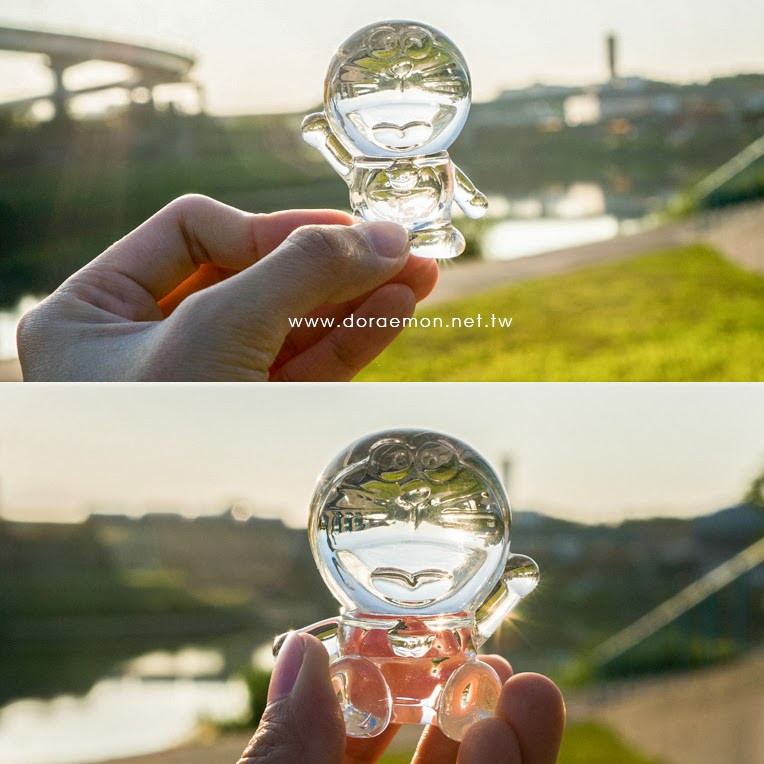 哆啦A夢 水晶 玻璃 公仔