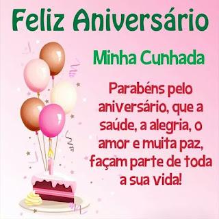 Mensagem de Aniversário para Cunhada.