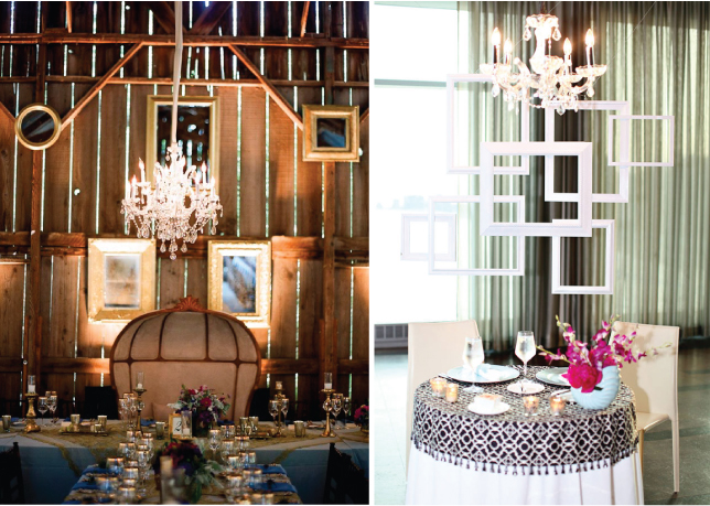 Table Decor Hanging Frames In Top Of Your Reception Tables Gives The Venue And A Multidimensional Effect Pic No 1 You May Also Place