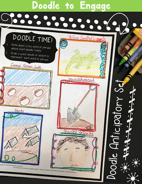 Start any lesson with this free doodle activity. Use it to start a lesson and get students doodling!