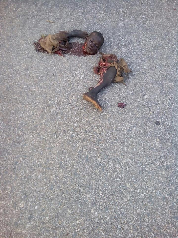 Very graphic: Suicide bomber decimated in Adamawa State