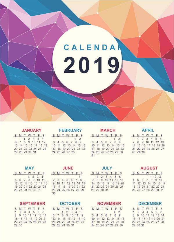 DESAIN KALENDAR GRATISAN TAHUN 2019 ABSTRAK