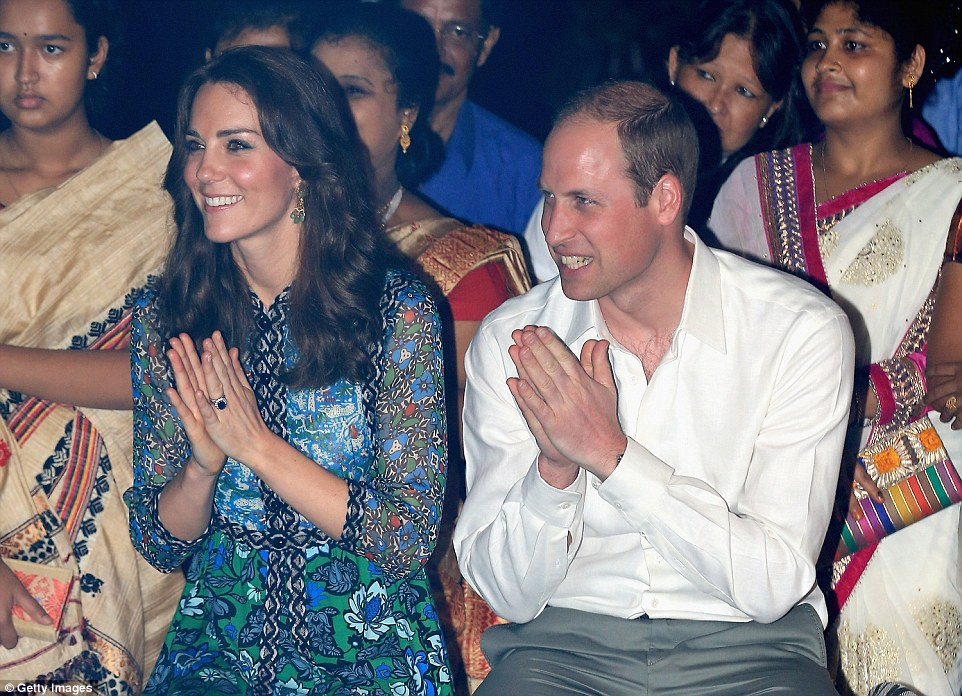 The Royal couple arrived at the Kaziranga Lodge in Assam