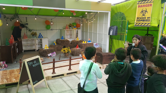 Prueba tiro al blanco nerf fiesta zombie cumpleaños campestre Bogota