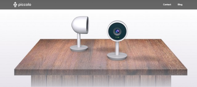 smart camera on wooden stand