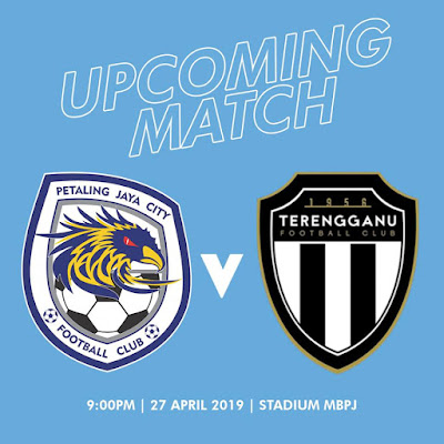 Live Streaming PJ City vs Terengganu Liga Super 27.4.2019