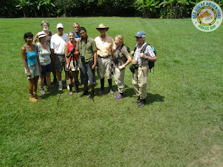 Group of visitors in Corcovado National Park, Sirena Station