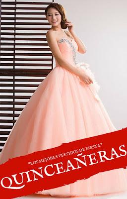 Vestidos de xv años color coral