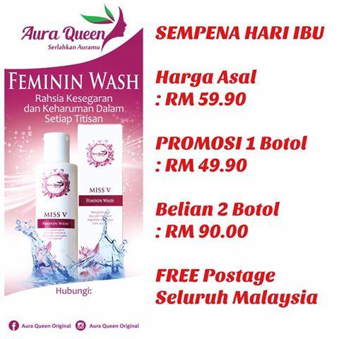 Promosi Feminin Wash Aura Queen , Aura Queen , Feminine Wash Aura Queen