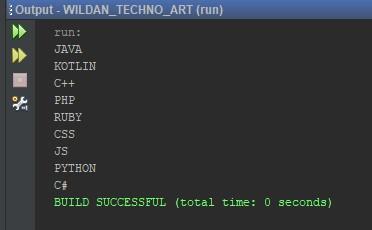 Contoh Penggunaan Nested Loop Menggunakan Array pada Java