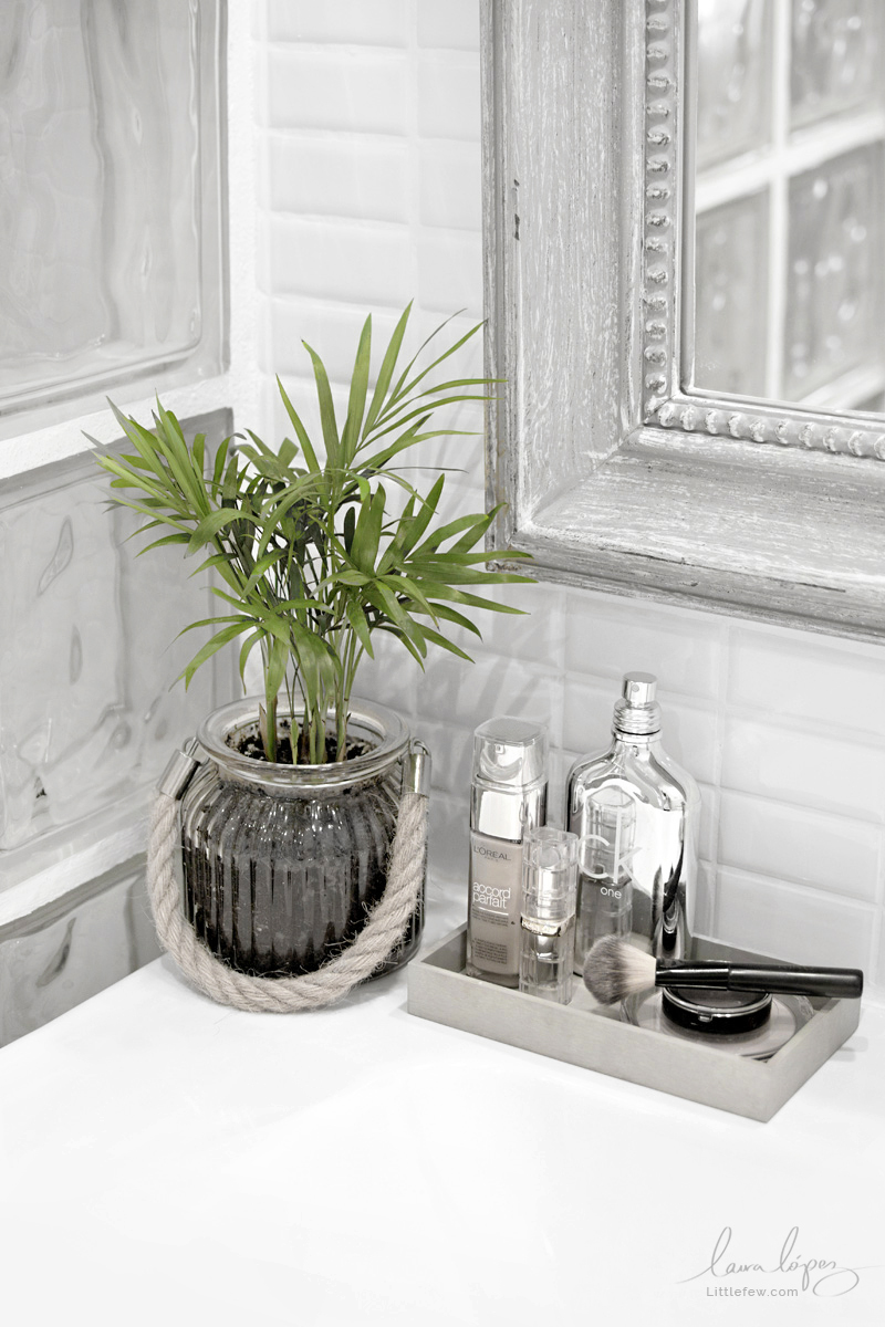 A TOUCH OF GREEN IN THE BATHROOM - UN TOQUE DE VERDE EN EL BAÑO