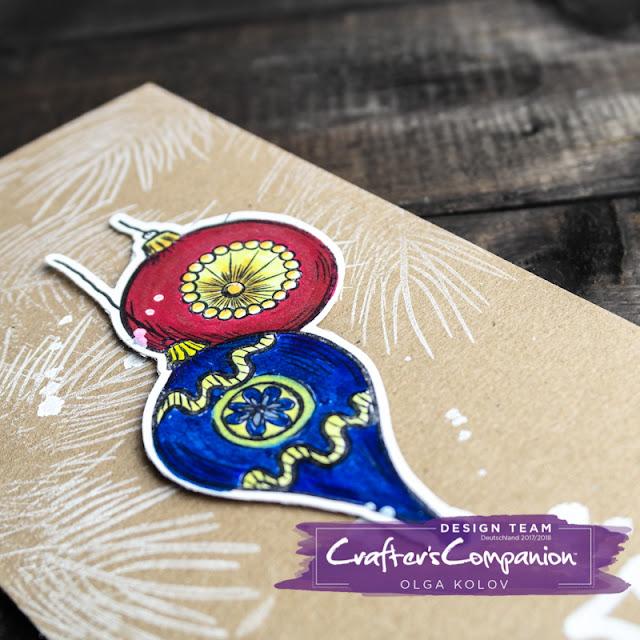 @olgakolov @crafterscompde #bild #cardmaking #markers #ausmalen #diy #stamps #rot #weihnachten