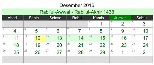 kalender umroh desember 2016 naa wisata