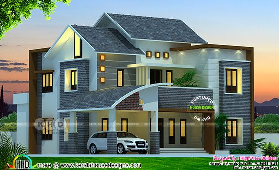 Modern Kerala home design by High View Builders