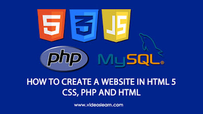 How to create a website in HTML5, CSS and PHP