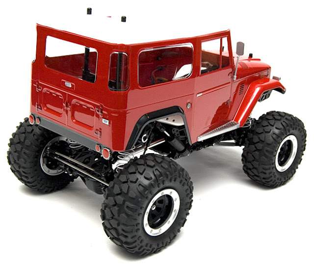 Tamiya Toyota Land Cruiser CR-01 red body paint