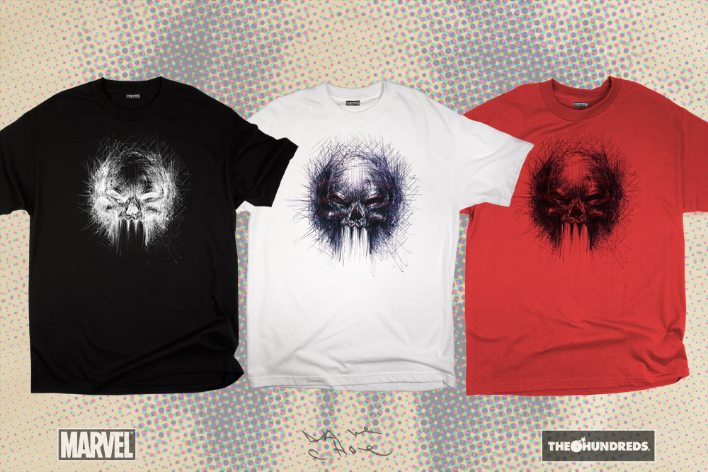 8edcc89e The Hundreds x Marvel Comics The Punisher T-Shirt Collection by David Choe  - Blue