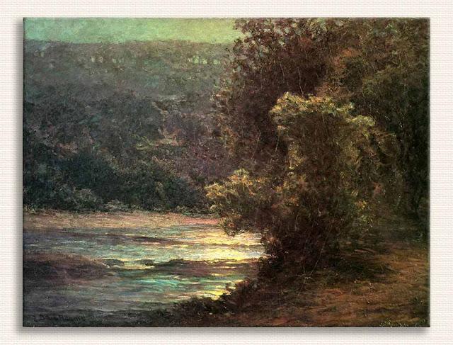 John Ottis Adams Suda Ayışığı kanvas baskı tablo