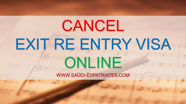 CANCEL EXIT REENTRY VISA ONLINE