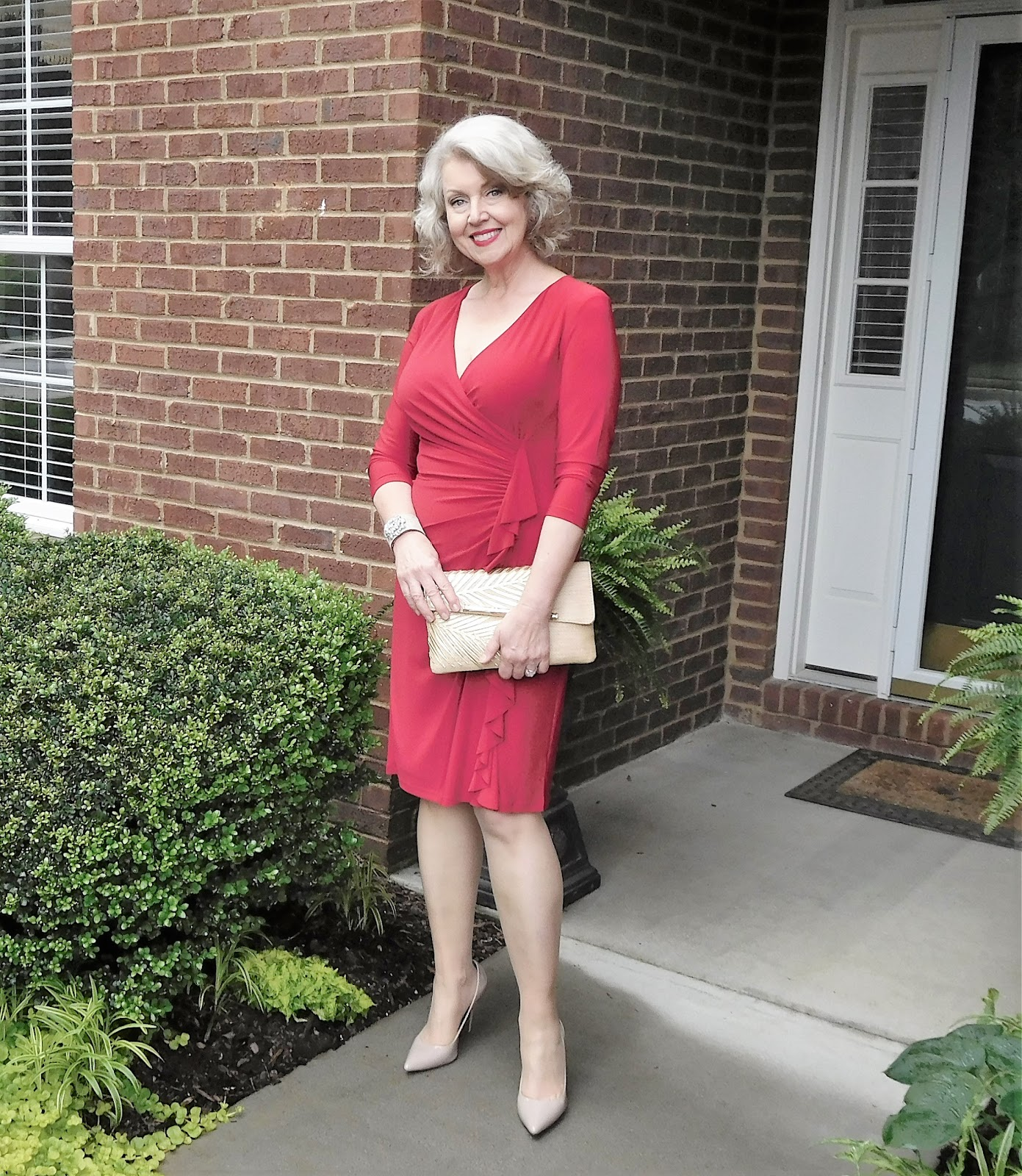 fifty, not frumpy: circle of red luncheon