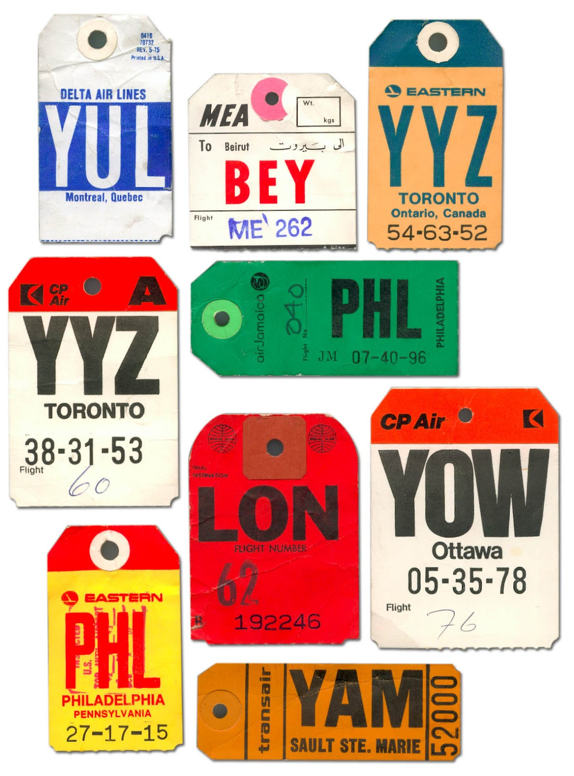 Air Travel Luggage Labels