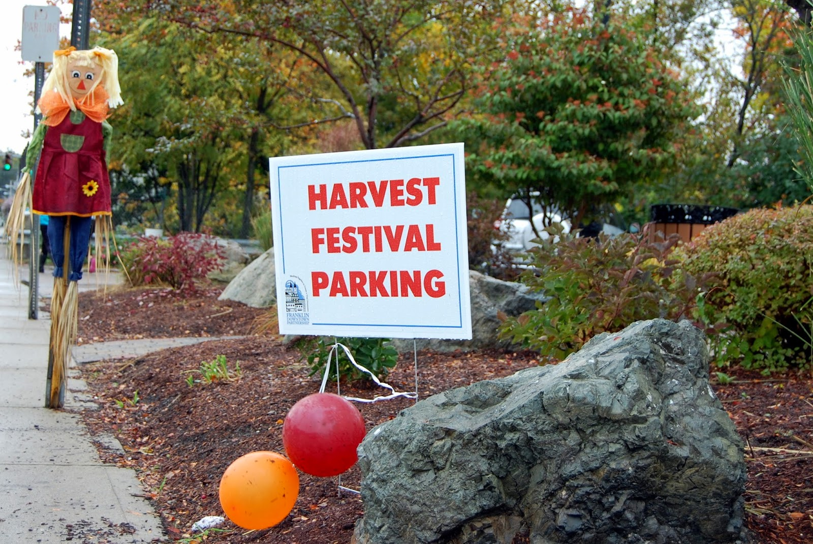 Harvest Festival Parking Sign 2013
