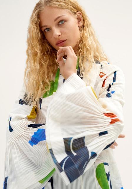 H&M Studio SS2018 - printed dress - detail of sleeve
