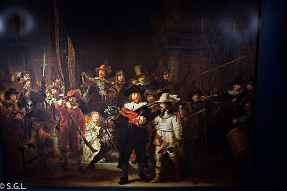 Cuadro la ronda de noche de Rembrandt