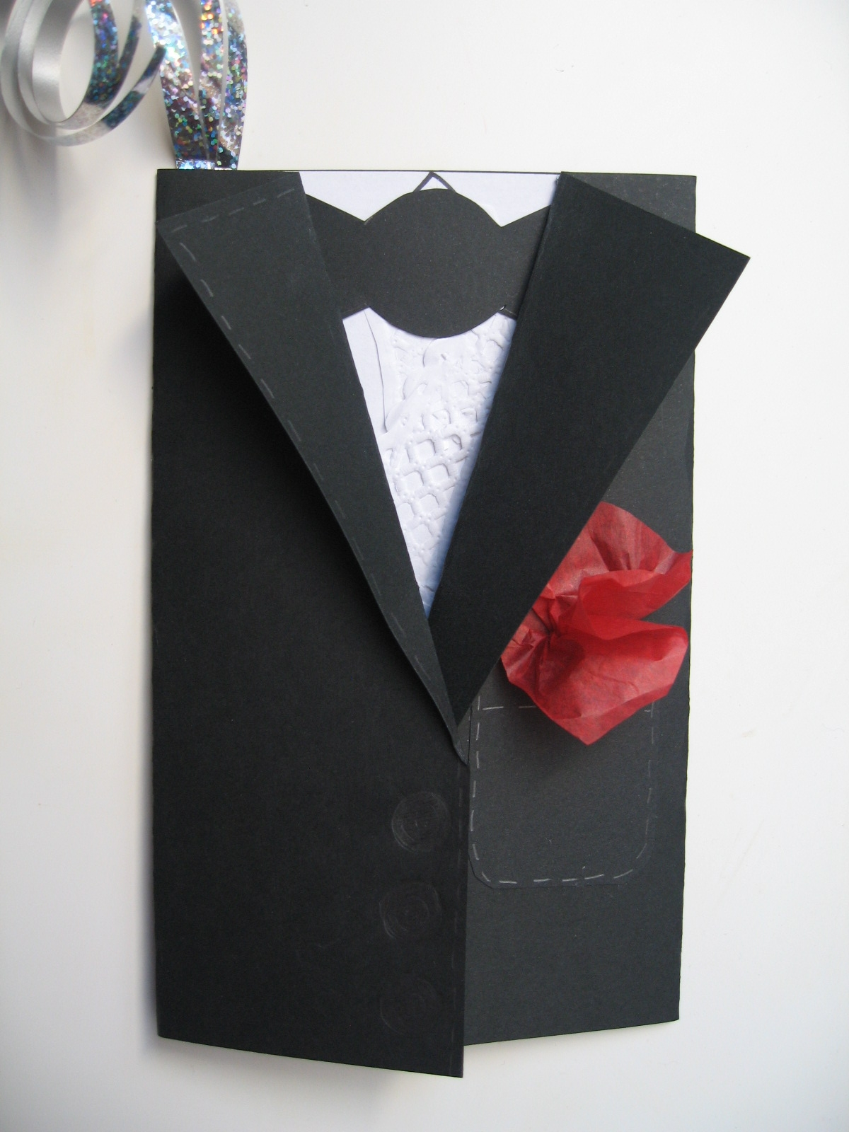 Craft With Jack New Year Birthday Card Tuxedo