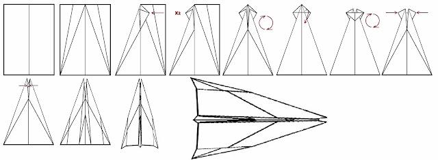 Avión de papel Wing 19