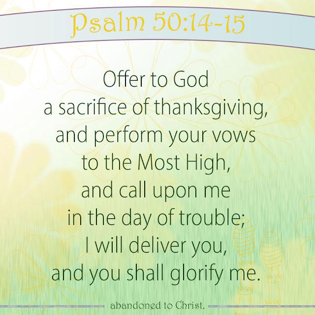 #PsalmSunday: Psalm 50