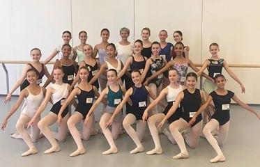 Olivia MacLean and her colleagues at the National Ballet School.