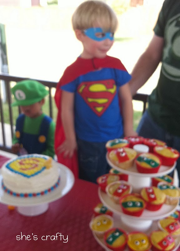 Super Hero Birthday party at the park for little boys - super hero