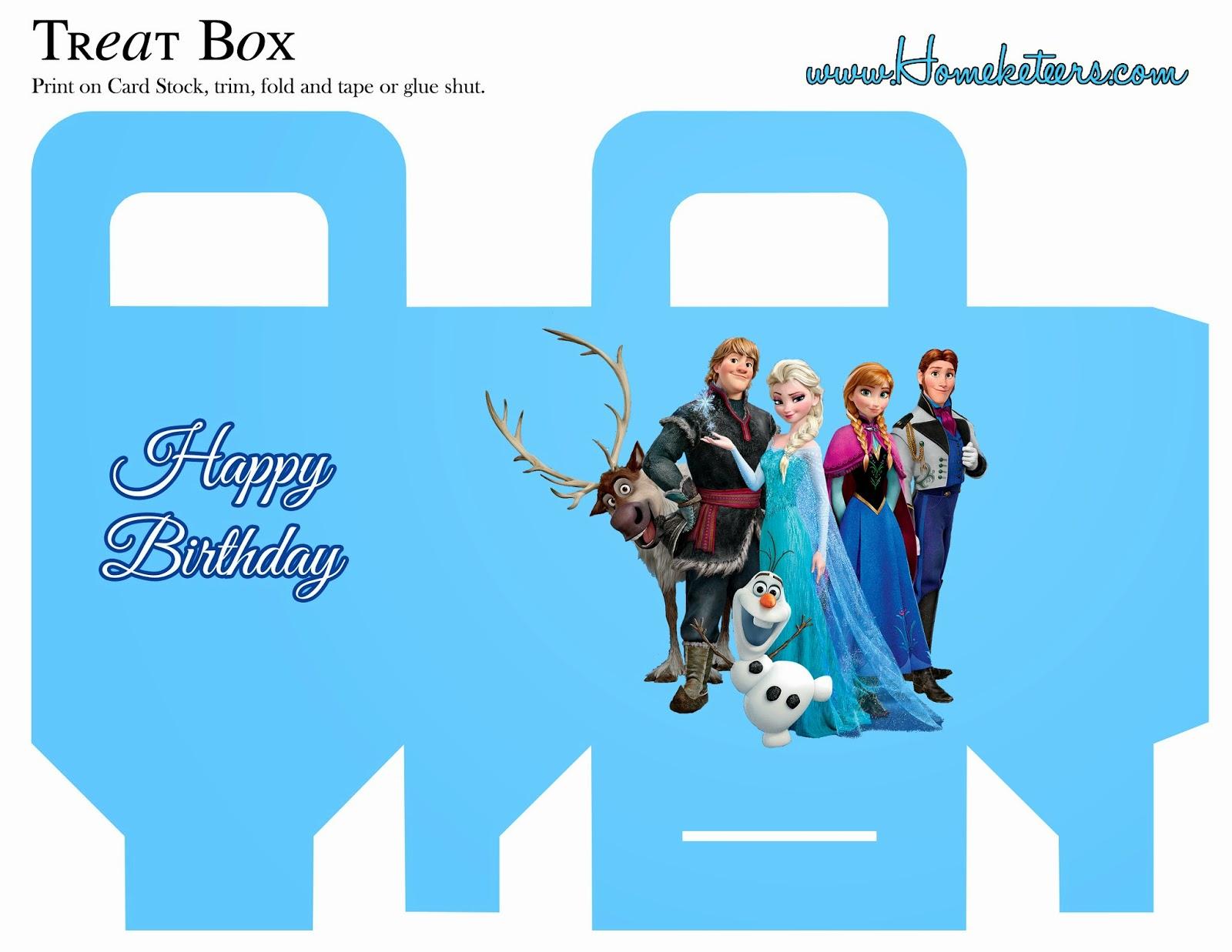 Frozen: Cajas para Imprimir Gratis.