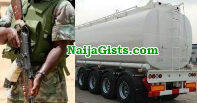 nigerian soldier hijacks fuel tanker akobo ibadan
