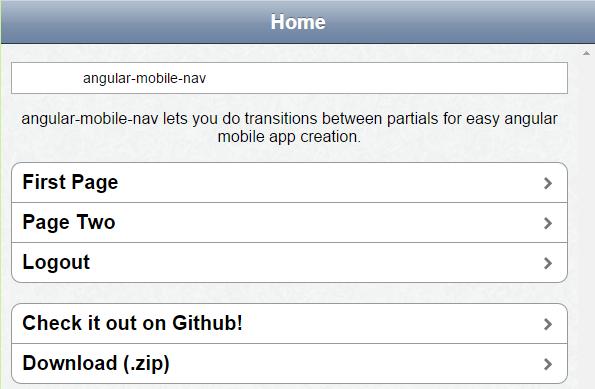 Angular Mobile Nav Bar
