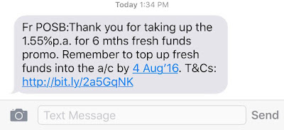 Fresh Fund SMS Notification